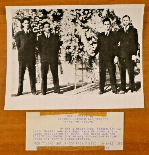 "Fidel Castro Original 1955 Photo 7"" x 9"""