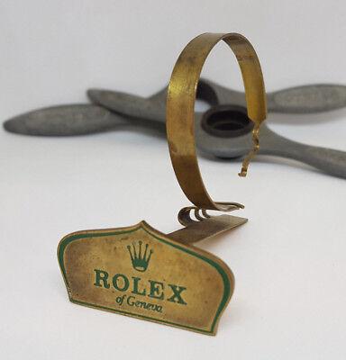 RARE 1950'S ROLEX OF GENEVA BRASS SHOP DISPLAY SIGN STAND No.0165