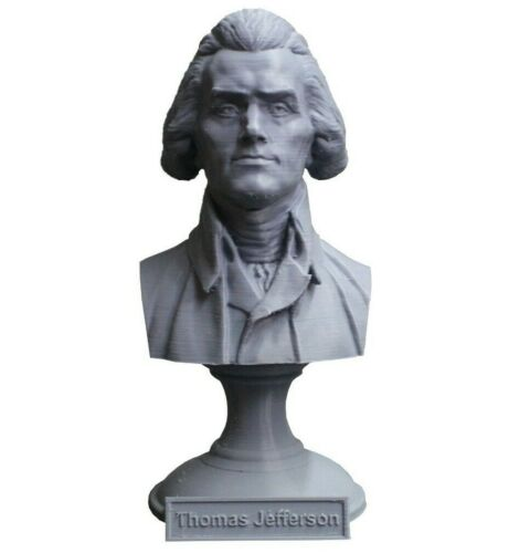 Thomas Jefferson 5 inch 3D Printed Bust DC President #3 Art FREE SHIPPING