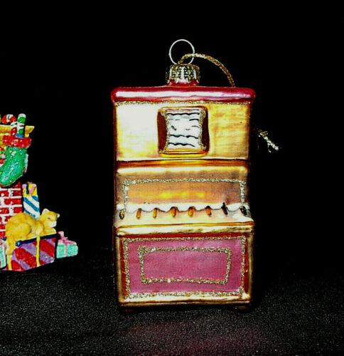VTG MERCURY GLASS OLD TIME PIANO CHRISTMAS ORNAMENT