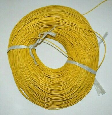 22 Awg Gauge Stranded Wire Yellow 50ft 300 Volts