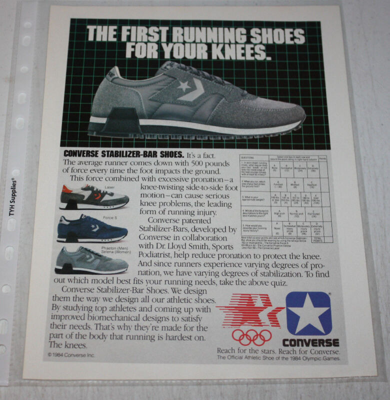 be27a0aa54b21d Vintage Converse Sneakers Advertising Print Ad
