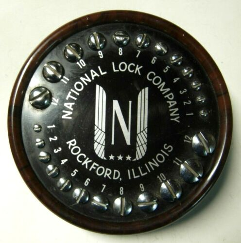 1950s National Lock Company Product Desk Display / Ornament -
