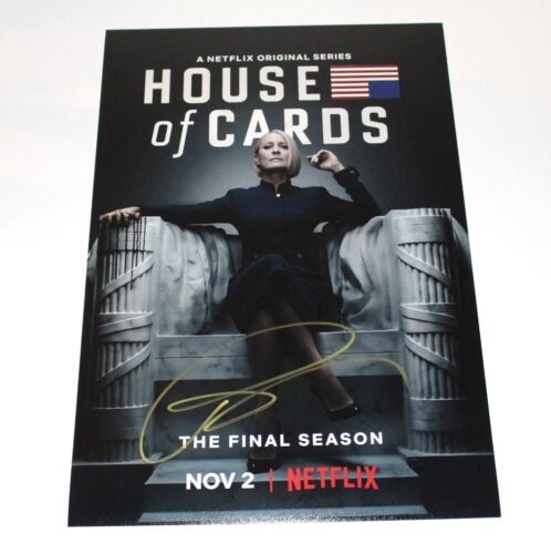 ACTRESS ROBIN WRIGHT SIGNED HOUSE OF CARDS 12x18 POSTER PHOTO w/COA UNDERWOOD