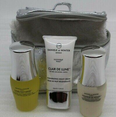 Körper Milch Set (Daniele de Winter Reiseset Nachtcreme + Körperöl + Reinigungsmilch + Tasche NEU)