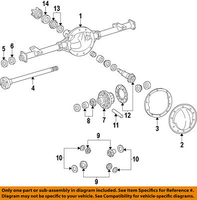 GM OEM Rear Differential-Side Bearing 25824251