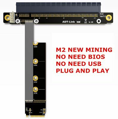 Riser PCIE 3.0 x16 To M2 NGFF NVMe SSD mining graphics card extension cable