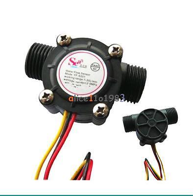 Water Flow Sensor Fluid Flowmeter Switch G12 Counter 1-30lmin Meter