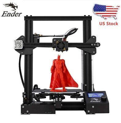 New Offical Creality 3D Ender 3 3D Printer DIY Kit DC 24V 15A Desktop USA Stock
