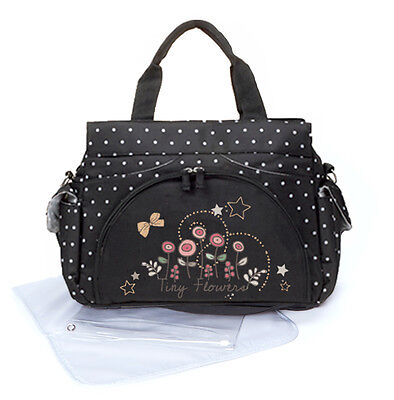 New Allis Baby Changing Bag Nappy Holiday Bag Message Bag - Flower