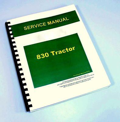 Service Manual For John Deere 830 Tractor Repair Shop Technical 1973-1975 All