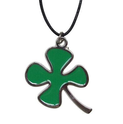 Anhänger Halskette Kleeblatt Mit Vier Blätter Grün