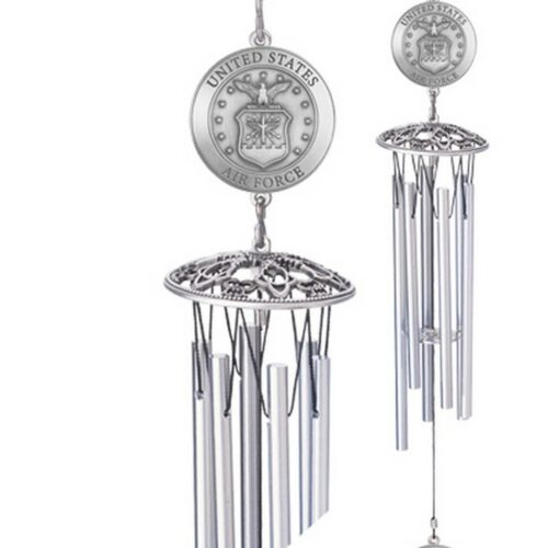 """Heritage Pewter United States Air Force Lackland AFB Pewter Wind Chime 22"""""""
