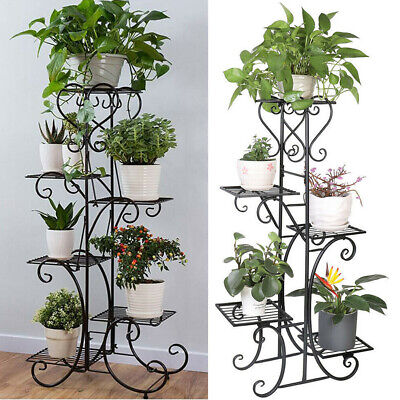 Extra Large Indoor Metal Plant Stand Shelf Anti Rust Iron Garden Flower Rack USA Extra Large Plant