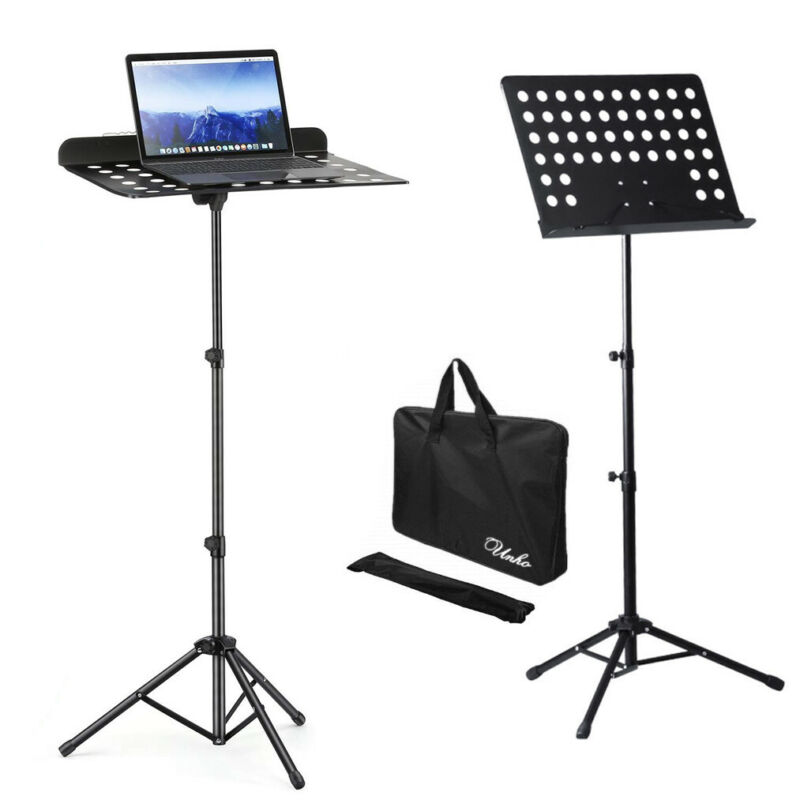 Heavy Duty Sheet Music Stand Portable Travel Folding Music Holder w/ Carring Bag