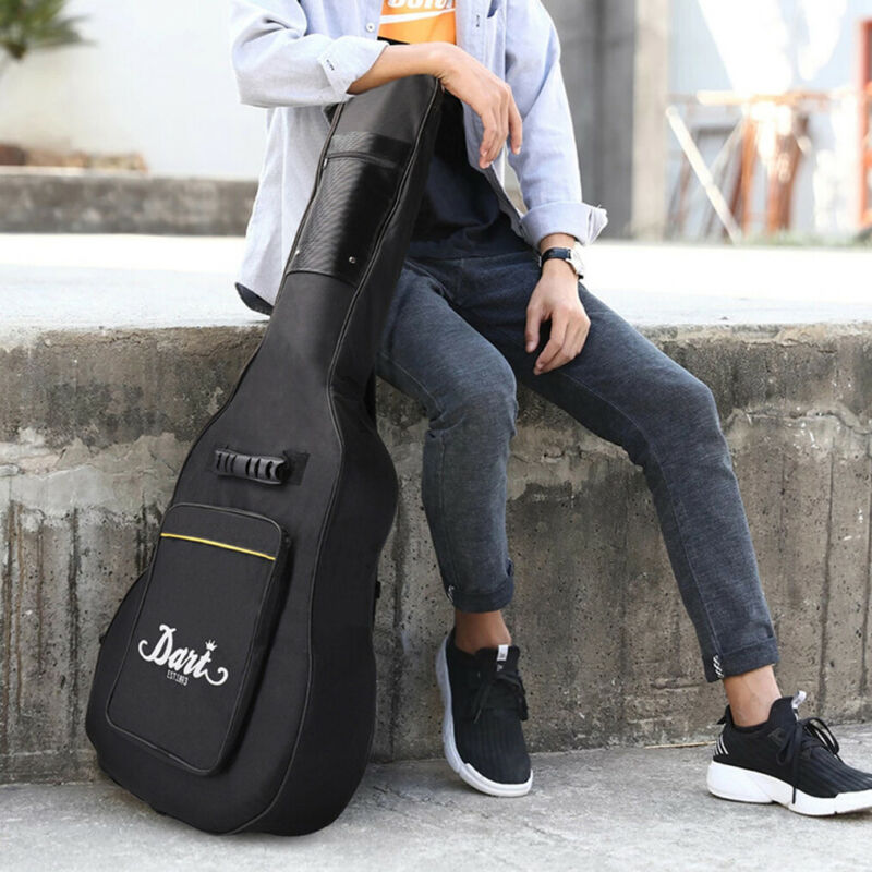 """Heavy Duty Thicken Soft Padded 40""""/41 Electric Bass Acoustic Guitar Case Gig Bag"""