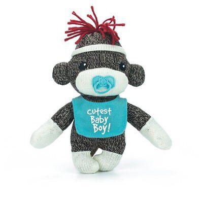 Sock Monkey Baby Plush Stuffed Animals Kids Toys Cutest Baby Boy Gifts 6 Inches](Baby Sock Monkey)