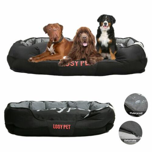 Extra Large Jumbo Orthopedic Dog Bed Soft Washable Kennel ...