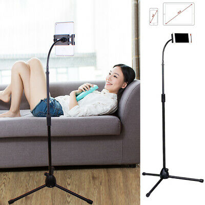 Flexible Gooseneck Tablet Floor Stand Lazy Bed Holder Universal for iPad Samsung