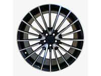 """x4 21"""" Mercedes MB17 Black Polish Style Alloy Wheels ML GL GLE 10J ET46 5x112"""