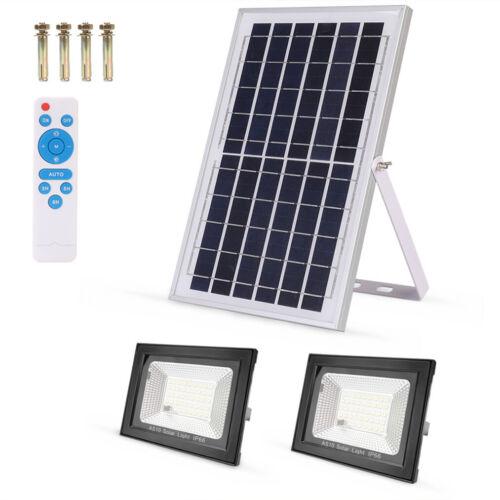Solar LED Garage Street Flood Light Outdoor IP65 Dusk to Daw