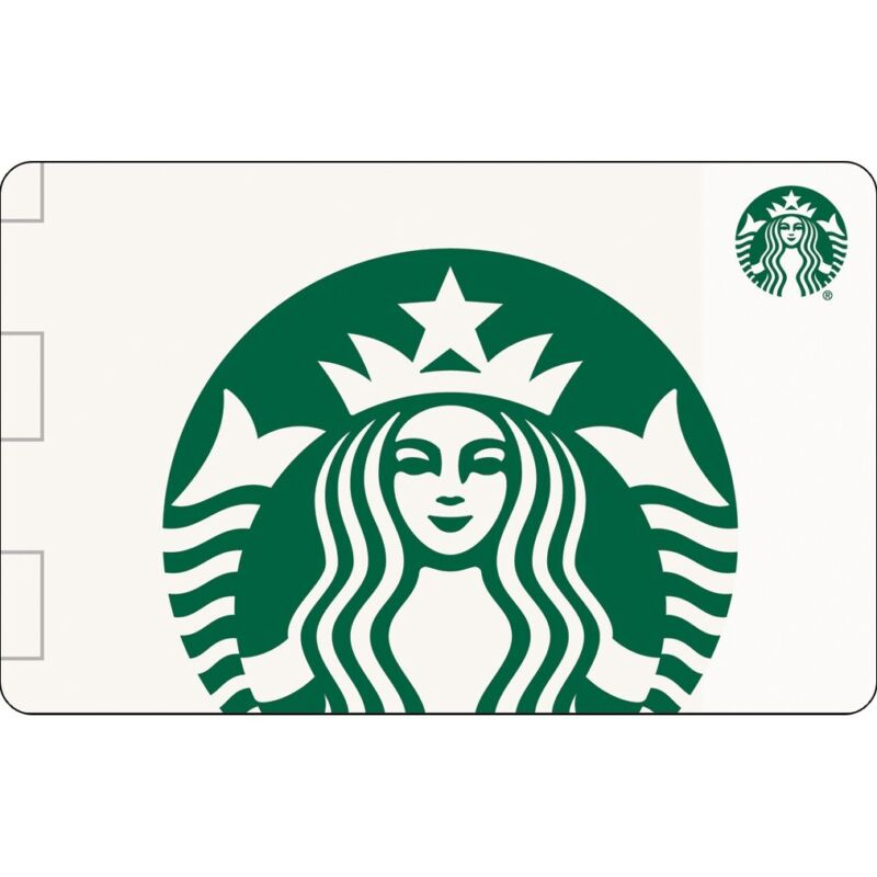 $100 Starbucks Gift Card Store Credit Card