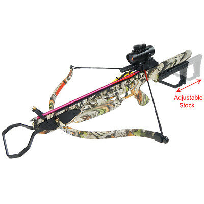 175 lb Vista Camouflage Hunting Crossbow Bow +7 Arrows +Stringer +Wax 150 80 50