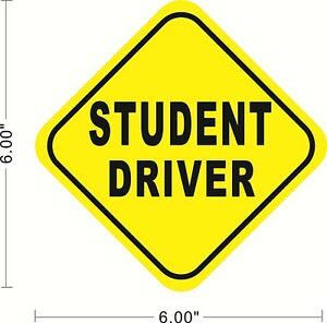 Student-Driver-Removable-Sticker-Decal-Safety-Car-Sign-Safe-Drive-Teen-A033