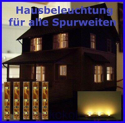 s332 5 st ck led hausbeleuchtung 5cm warmwei beleuchtung bahnsteig h user ebay. Black Bedroom Furniture Sets. Home Design Ideas