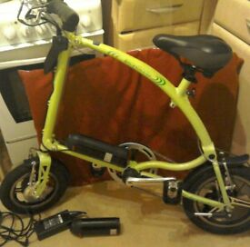 Electric Fold Up Bike Pedal and Go, Ideal Christmas Gift