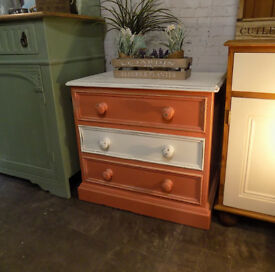 Painted Shabby Chic Pine Drawers