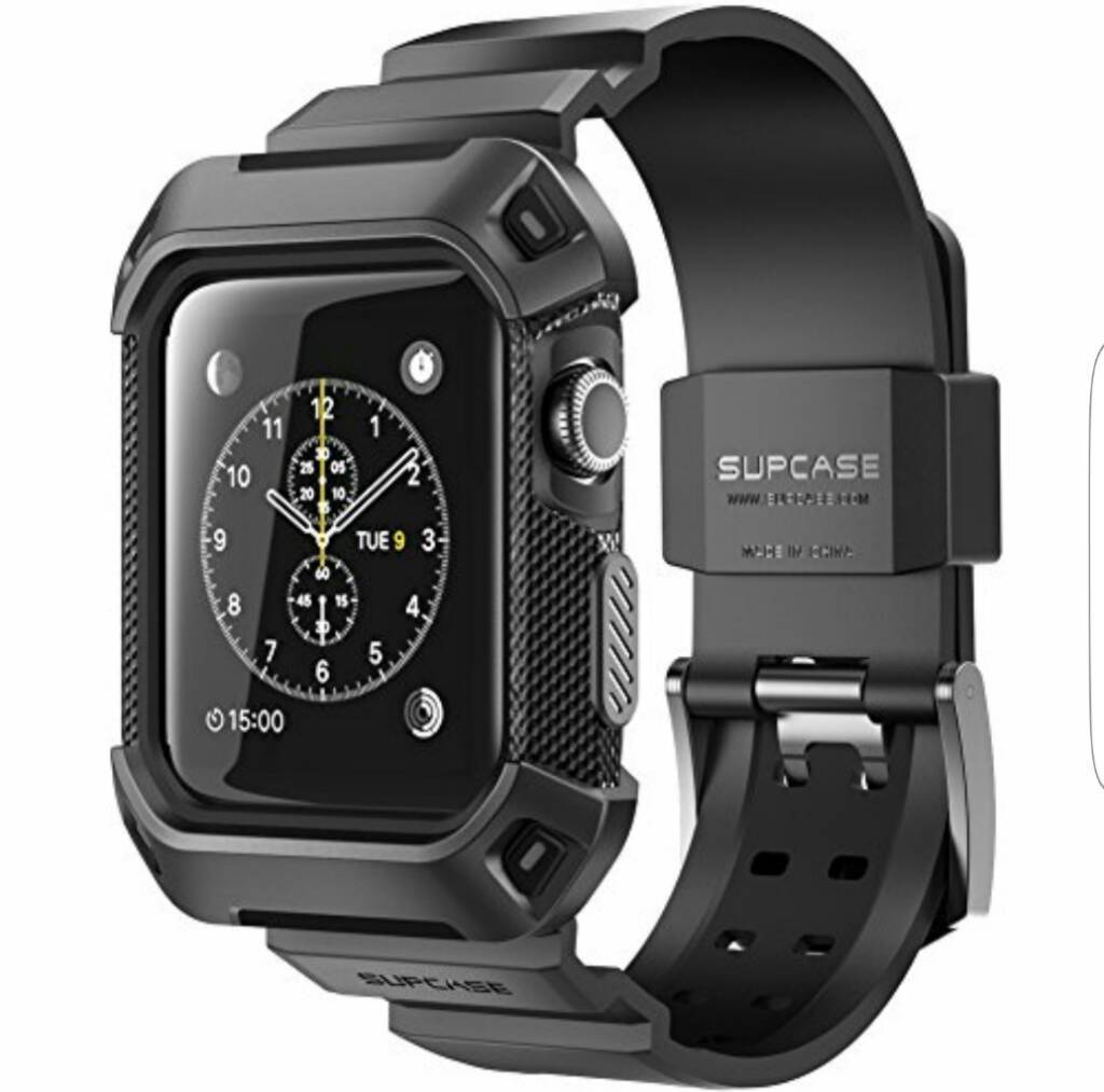 Apple iwatch 42mm sport space greyin Sydenham, BelfastGumtree - Nice clean watch. Comes with original box & charger etc. Has both the short & long sport bands.I am also throwing in the Supacase G Shock style strap. This gives the watch a lot more protection and gives it a more rugged look.I am open to sensible...