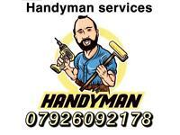 Handyman services helper flat packs assembly flooring Shelves,tv,mirror,curtain rails/poles hangings