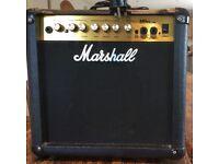 Marshall amp 45w. Reasonable condition, MG series 15 CDR.