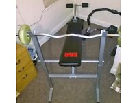 I am selling a good quality weight bench- very good condition- bargain price!!