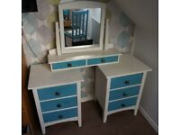 Vintage Shabby Chic dressing table with miror and orla kiely chair