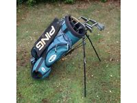 Ping Clubs & Bag