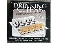 Drinking Chess - Shot Glasses for pieces. Great fun drinking game.