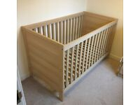 Kiddicare 3-Position Base Convertible Cot Toddler Bed. Great Condition