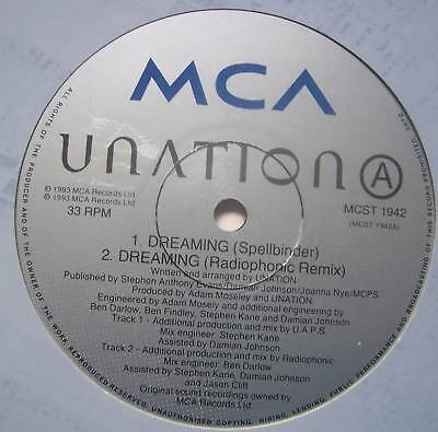 Unation   Dreaming 5 X Mixes   12  Single