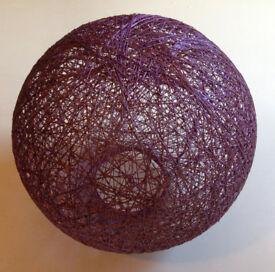 Purple Ball Lightshade