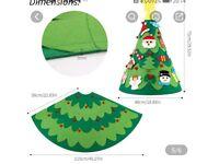 New children's felt christmas tree