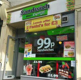 Modern Sandwich Shop Business for Sale, Bradford City Centre, Excellent Busy Location
