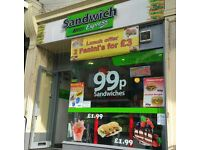 Modern Sandwich Shop Business for Sale, Bradford City Centre, Excellent Busy Location