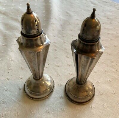 made in USA circa 1950s Vintage Copper Kitchen salt and pepper shakers stamped holes for S /& P