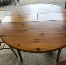 Very heavy solid pine farmhouse extending table.