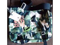 Unique Official FIAT 500 laptop bag camouflage pattern BNWT