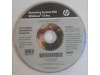 HP Compaq Genuine Windows 10 Operating System Reinstall Repair Recovery DVD