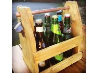 Rustic Handmade Beer Bottle Opener / Drinks Caddy