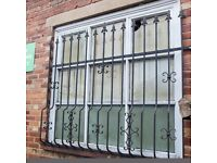 2 x heavy duty decorative window security grilles. £75 each